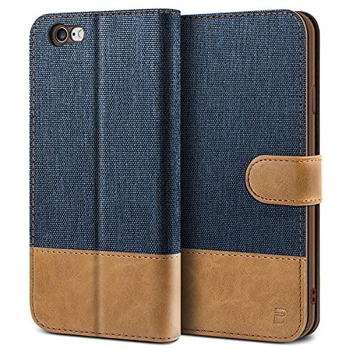 BEZ Cover iPhone 6, iPhone 6S, Custodia Compatibile per iPhone 6, iPhone 6S,Portafoglio Flip Cover con Chiusura Magnetic - Blu navy