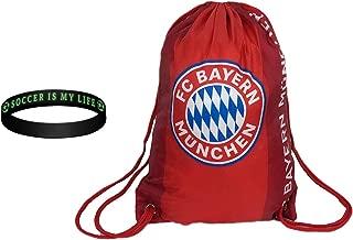 FC Bayern Munich Cinch Bag Sack Backpack Book bag drawstring BAYERN002
