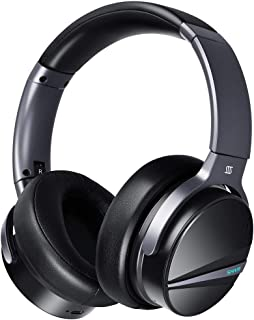 Active Noise Cancelling Headphones - SHIVR 3D Immersive Audio Wireless Over Ear Bluetooth Headset with Microphone, Built-in Gyroscope Smart Play/Pause, Ambient Sound Mode for Travel Work TV PC Phones