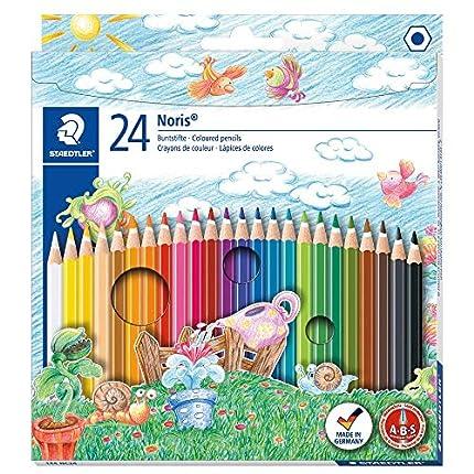 Staedtler Noris Club - Pack de 24 lápices de colores, Multicolor