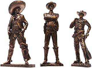 Western Cowboy Three Musketeers, American Characters Statue Sculpture Model Creative Home Furnishing Office Bar Decoration...
