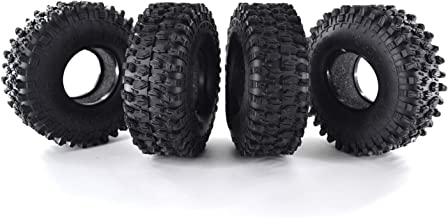 4Pcs AUSTAR AX-5020 1.9 Inch 120mm Crawler RC Tires - Ultra Soft Rock Crawler Tires Foam Insert for RC Car 1/10 Axial SCX10 90047 D90 D110 TF2 Tamiya CC01 TRX-4 Traxxas Redcat SCX10 AXIAL RC4WD