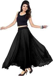 Skirt Solid Skirt Ladies Wear Faux Georgette Designer Long Skirt 36 inch Length and Full Lining
