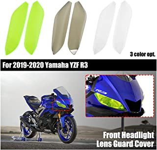 YZF R3 Accessories Motorcycle Front Headlight Lens Guard Cover Head Light Lamp Screen Protector for 2019 2020 Yamaha YZFR3...