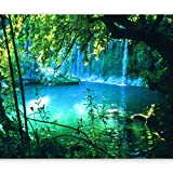 artgeist Wall Mural Waterfall Nature 157'x110' XXL Non-Woven Wallpaper Fleece Wall Decor Photo Print Picture Image Design Home c-B-0132-a-a