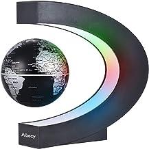 Nishore Creative 3 Inch C em forma de levitação magnética Globo de mapa flutuante mundial com luz de cores LED para Home O...
