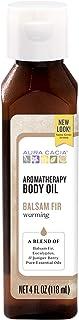 Aura Cacia Warming Balsam Fir Aromatherapy Body Oil | 4 fl. oz.
