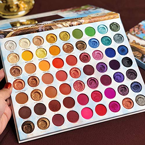 Pro 63 Colors Eyeshadow Palette Highly Pigmented Nudes Smoky Glitter Shimmer Matte Red Eyeshadows Cosmetics Eye Shadow Powder Makeup Pallet