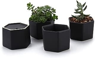 Best small black flower pots Reviews