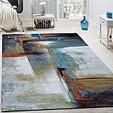 Paco Home Designer Teppich Modern Kurzflor Wohnzimmer Bunt Trendig Meliert Multicolour, Grösse:80x150 cm