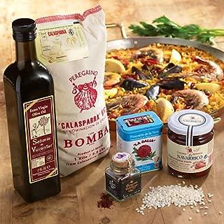 La Tienda Essential Paella Ingredients Combo (Includes Bomba Rice, Saffron, Paprika, Pimientos, Extra Virgin Olive Oil)