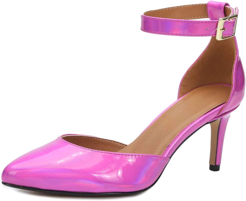 sale Houston Mall Enelauge Women's D'Orsay Pointed Toe Strap Kitten Heel Ankle Sti