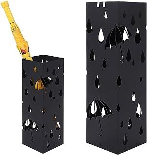Grande capacit/à di Archiviazione di 8~12 Ombrelli Metallo Ferro Battuto Umbrella Benna allIngresso del The Home Hotel Lobby Portaombrelli Porta Ombrelli HUAHUA Moderna Geometrica Rosso