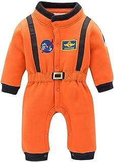 Ropa de Bebe Niña Recien Nacida con Botón Astronauta Mameluco Abrigo de Niño Niña Astronauta - Monos Ropa Bebe Niña Otoño Invierno 0-24 Meses