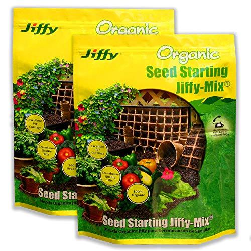 Jiffy Natural & Organic Seed Starting Jiffy Mix, 10 QT (2 Pack)