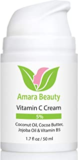 Vitamin C Cream for Face with Coconut Oil, Cocoa Butter & Jojoba Oil, 1.7 fl. oz.