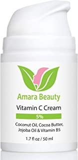 Vitamin C Cream for Face with Coconut Oil, Cocoa Butter & Jojoba Oil, 1.7 fl. oz.