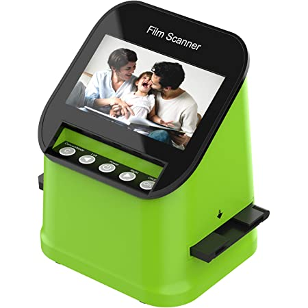 Film Scanner supporto per 8 diapositive, adatto per diapositive da 35 mm 110, 126, 22MP 4.3'' TFT LCD Scanner Convertitore, Foto Salva su Scheda SD Direttamente