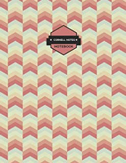 Cornell Notes Notebooks: Retro Vintage Chevrons Notes Paper (Science and Math Guided School Notebooks)