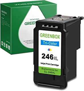 GREENBOX Remanufactured Ink Cartridge Replacement for Canon CL-246XL 246XL 246 XL for Canon PIXMA MX492 MX490 MG2420 MG252...