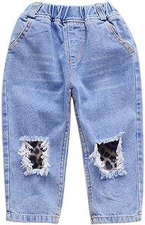 HOSD Jeans con Agujero para niños 2019 Primavera Nueva Ropa para niños Pantalones para niños Primavera y otoño Pantalones ...