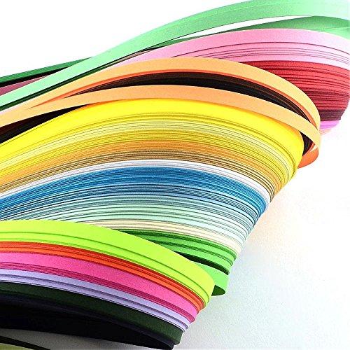 30 Farben Quilling-Papierstreifen, gemischte Farben, 450 x 3 mm, ca. 260 Streifen/Beutel, 30 Farben/Beutel.