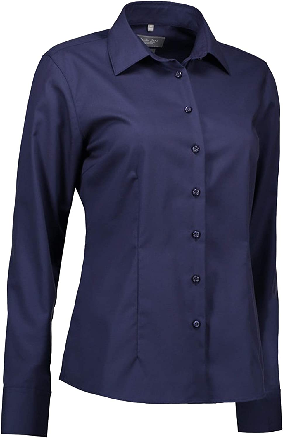 ID Womens Ladies Fine Twill Shirt Modern Fit