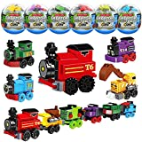 K34A Toys Train Sets for Kids,12 PCS Easter Eggs,Easter Basket Fillers Fift for boys 6-8-14, Model Train Track, Building Blocks,Birthday/Party Favors/Party Supplies for Ages 7 9 10 11 12 Year Old Boys
