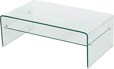 Christopher Knight Home Salim 12mm Tempered Glass Coffee Table, Clear