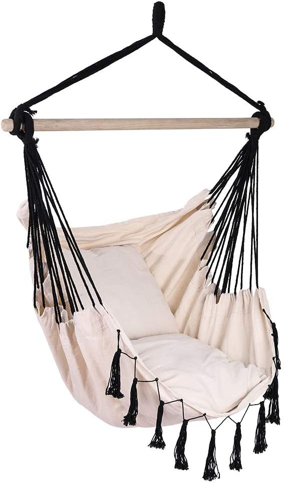 Max 58% OFF Micozy Hammock Chair Soft Cotton Swing Max 48% OFF Rope Se Fabric Hanging