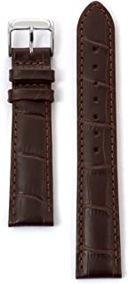 Genuine Leather 22mm Alligator Matte Brown Watchband