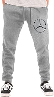 SHENGN Mens Custom Mercedes Benz Logo Cool with Pockets Jogger Trousers Black