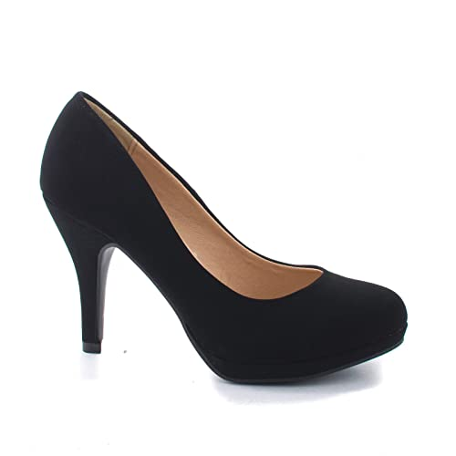 d775d075e716 Women s Classic Dress Pump W Extra Cushioned in Sole Round Toe   Platform