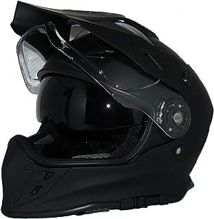 protectWEAR Crosshelm Endurohelm Motorradhelm mit integrierter Sonnenblende und Visier V331-SM-M
