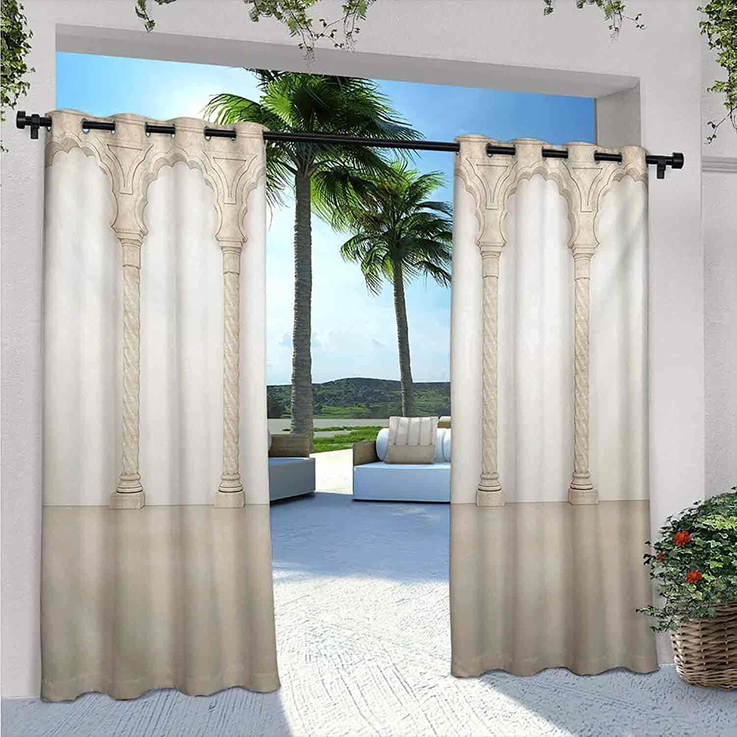 Pillar 2021 spring and summer new Waterproof Indoor Outdoor for Architectur Curtains Patio Ranking TOP17