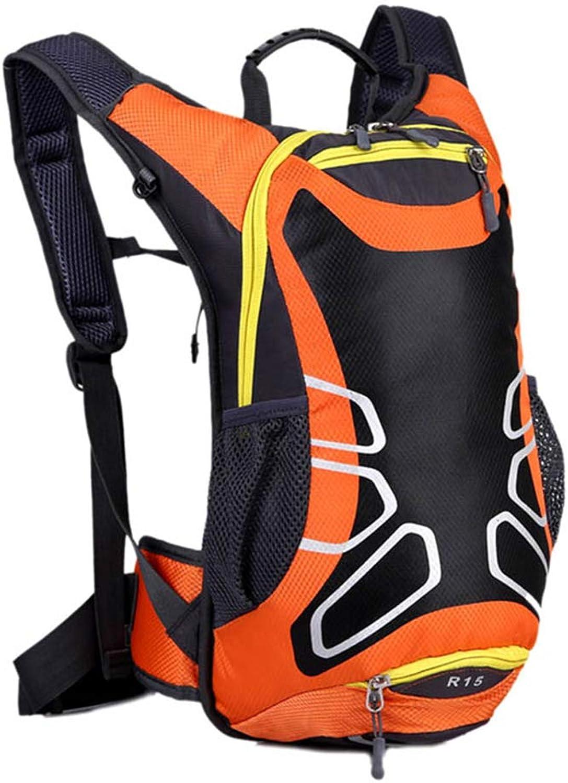 AZZXC Fahrradtasche Ultraleichter Wasserdichter Sportrucksack 15L Erweiterter Rucksack Mit Groer Kapazitt Für Mountainbike-Rucksack (Orange)