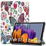 NUPO - Funda para Samsung Galaxy Tab S7 Plus 2020, ultra fina, de poliuretano, ultra ligera, con función atril, perfecta para Galaxy Tab S7+ SM-T976 Color03