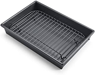 Chicago Metallic Professional Non-Stick Roast Pan with Non-Stick Rack 10-Inch-by-7 3126639