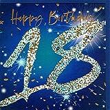 Belly Button Designs - Biglietto di auguri per 18° compleanno - Blu oro