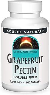 Source Naturals Grapefruit Pectin, Soluble Fiber - 1000 mg Dietary Supplement - 240 Tablets