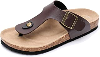 WTW Men's Gizeh Thong Footbed Flat Flip-Flops Cork Sandals
