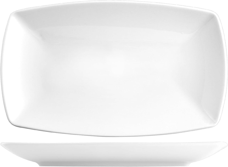 Saturnia Tokio Set Assiettes, Porcelaine, Blanc, 6unités