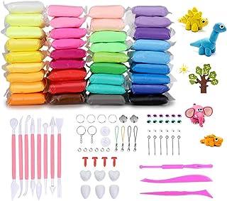 comprar comparacion Abree 36 Colores Slime Kit - DIY Arcilla Colorida de Caucho de Barro Magia Plastilina - Juguetes Educativos sin Tóxicopara...