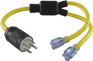 Conntek Y1450520S NEMA 14-50 50-Amp 125/250-volt RV/Generator Y-Adapter Plug to U.S. 15/20-Amp Female Connectors