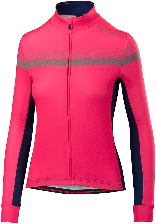 Altura HiViz Pinkbluee 2018 Nightvision 4 Womens Long Sleeved Cycling Jersey