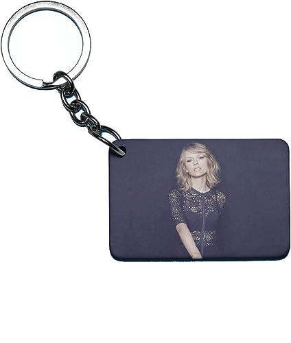 Taylor Swift Theme Fan Art Printed Rectangle Wodden Keyring Keychain For Bag Wallet Purse HIKTSKR011