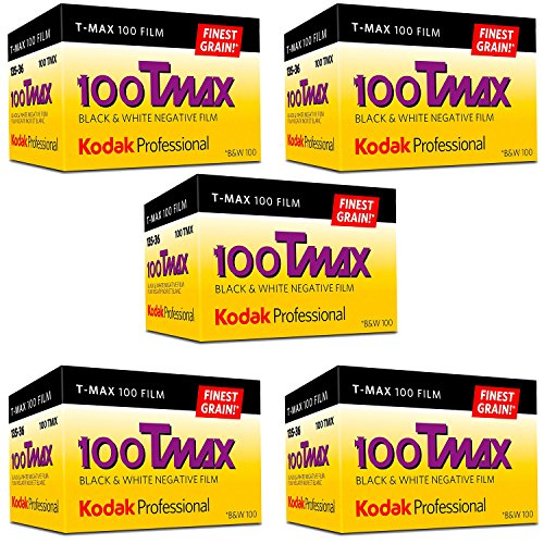 Ritz Camera Kodak Professional 100 Tmax Black and White Negative Film (ISO 100) 35mm 36 Exposures (853 2848) 5 Pack Kentucky