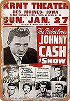 Johnny CASH SHOW 金属板ブリキ看板警告サイン注意サイン表示パネル情報サイン金属安全サイン