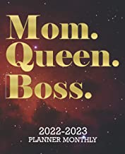 Mom Queen Boss 2022-2023 Monthly Planner: 2 year Calendar January to December 24 Month Schedule Organizer,Journal & Person...