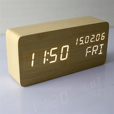 Cn Silenciar el Despertador creativos niños Dormitorio cabecera Minimalista Simple Reloj Alarma 6